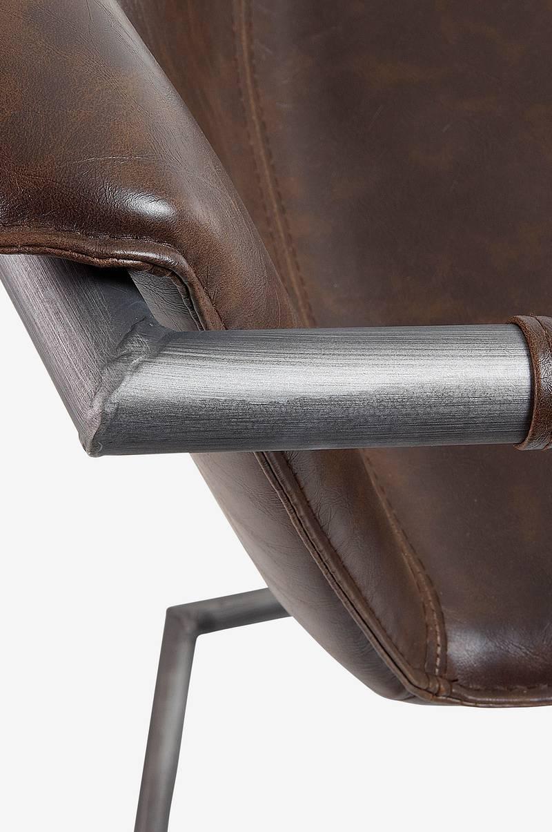 Kave Home Barstol Trion Høj 2 pak, 79 cm Brun Møbler