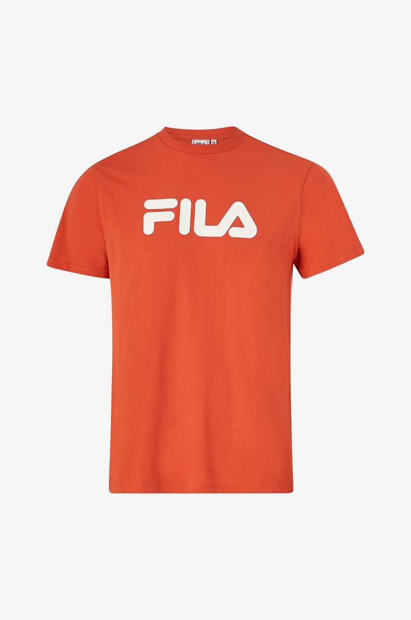 FILA T shirt Classic Pure Tee Orange Herre Ellos.dk