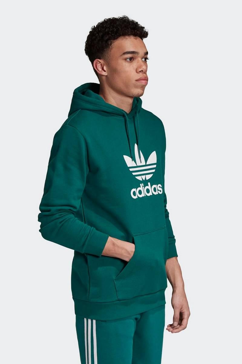 adidas Originals Huvtröja Trefoil Hoodie Grön Herr