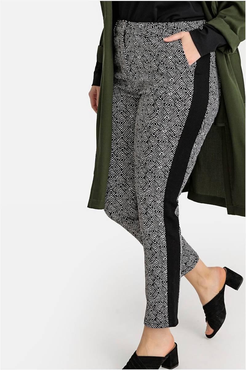 La Redoute Collections Plus Bukse med bånd i siden Svart