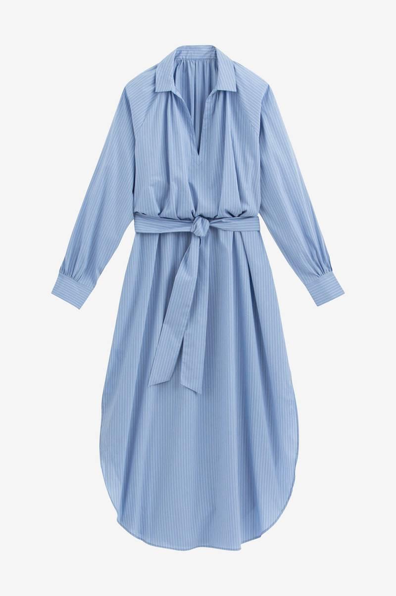 La Redoute Collections Lång, randig klänning med lång ärm
