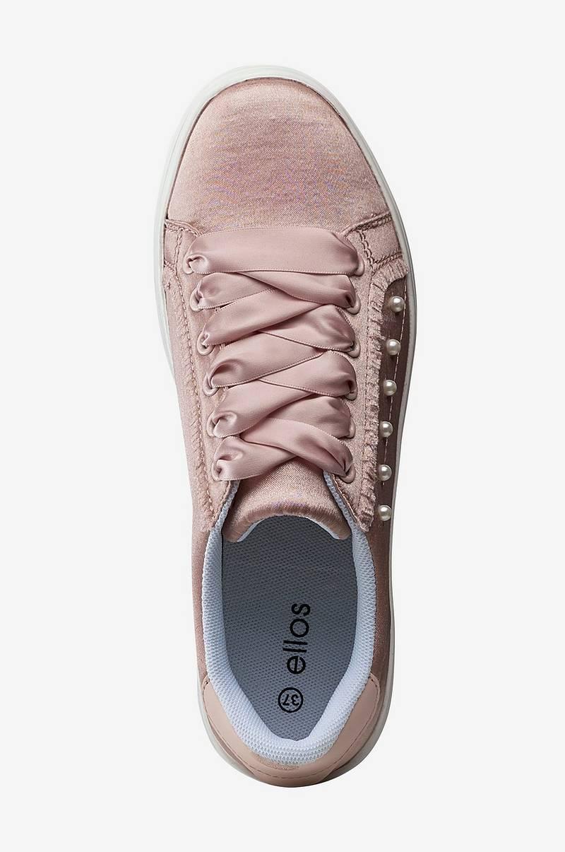 Ellos Shoes Sneakers Satin Lace Up Rosa Dam Ellos.se