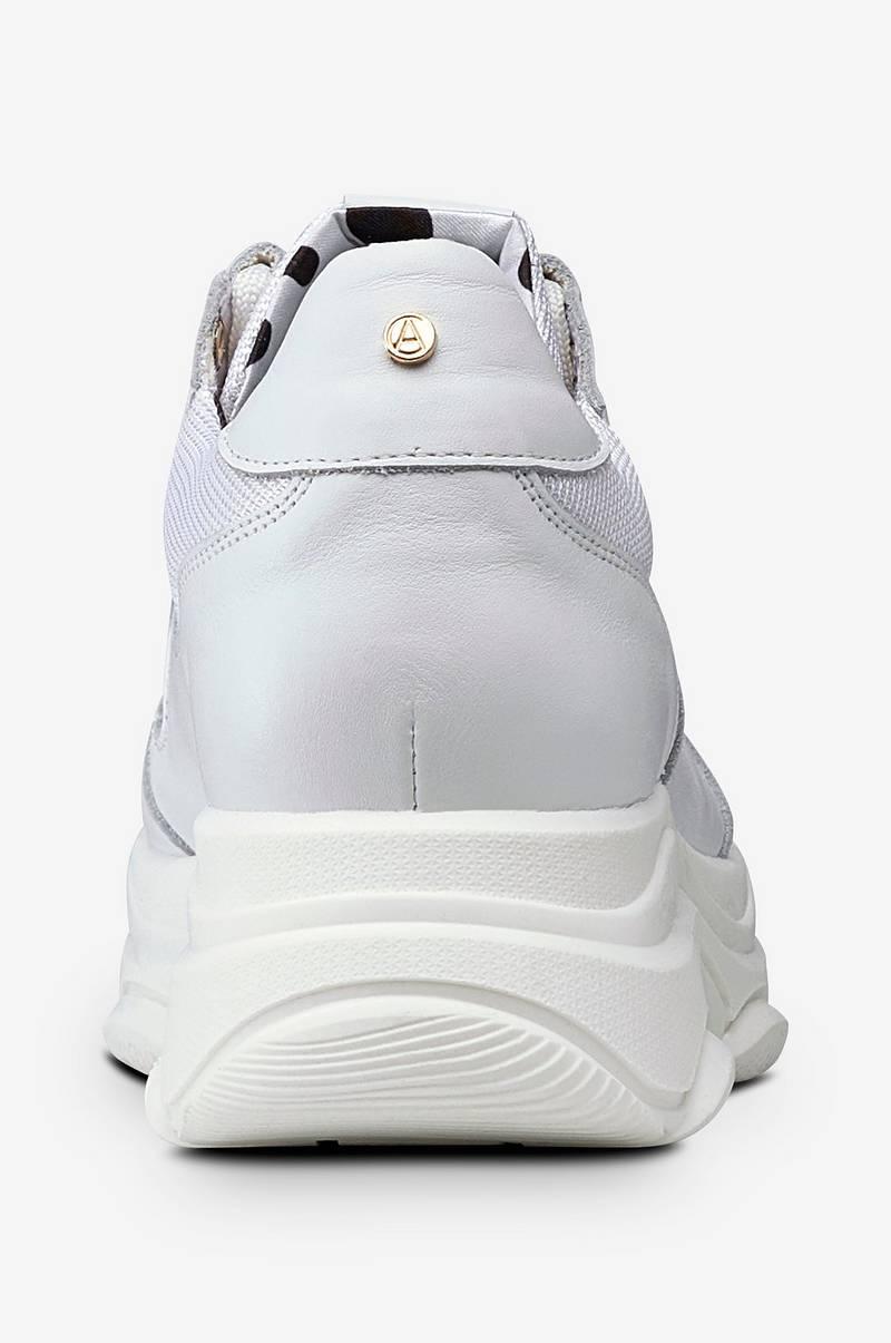 Agnes Cecilia Sneakers Thick Outsole Leather Vit Dam