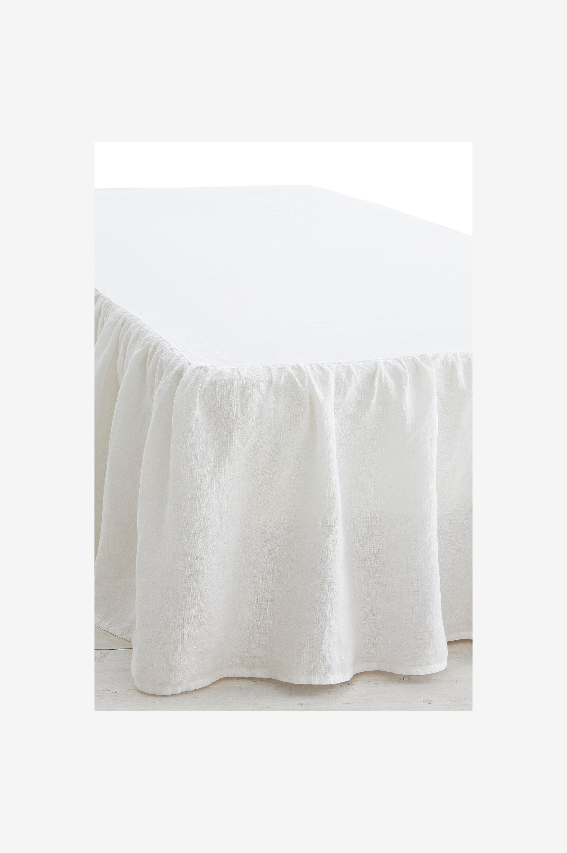 Ellos Home Sängkappa Candice i tvättat lin - Vit - Sängkappor 0Y1Qm