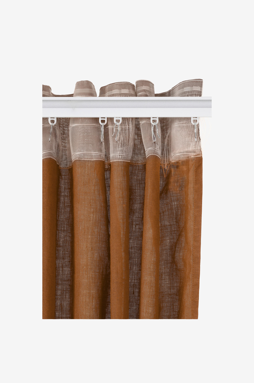 Ellos Home Veckbandslängd Pembroke 2-pack i 100% lin - Brun - Veckbandslängder qMLPm