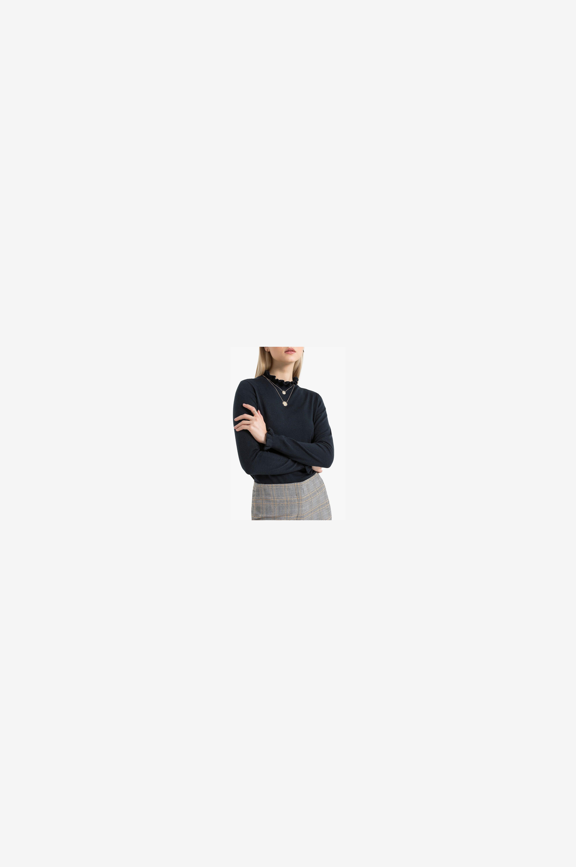 La Redoute Collections Ohut neulepusero, jossa pyöreä pääntie - Sininen - Neulepuserot YemukX