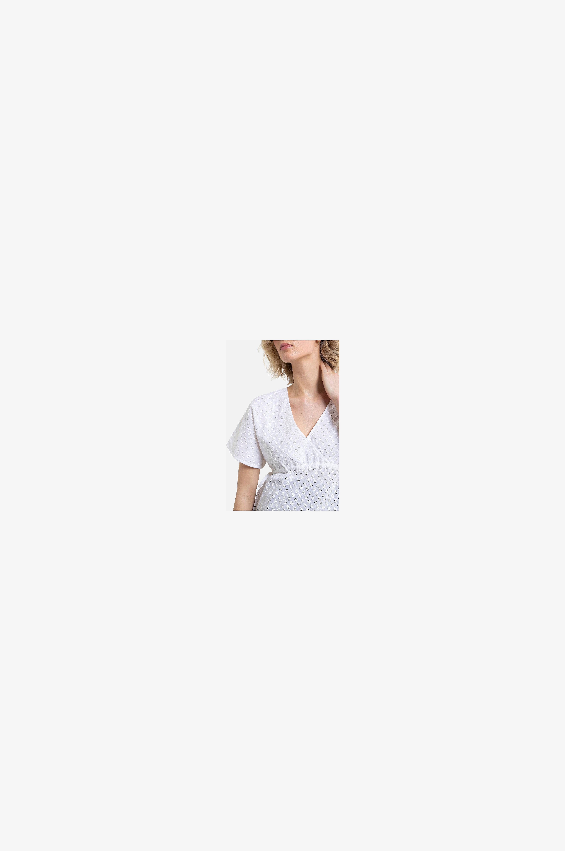 La Redoute Collections Mammablus med engelsk brodyr - Vit - Mammaskjortor & blusar zsgyB
