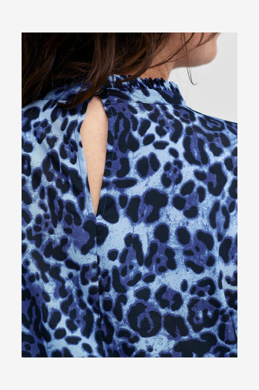 Ellos Plus collection Ida röyhelömekko, jossa leopardikuvio - Oranssi - Juhlamekot xUwRzG