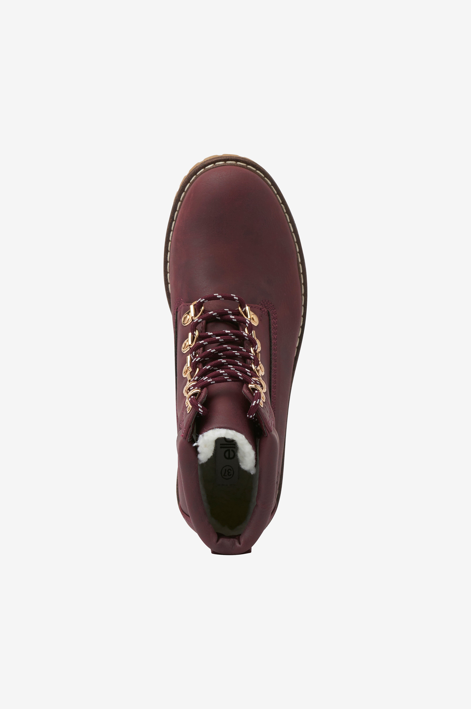 Ellos Shoes Känga Lace Up - Röd - Kängor WaIMB