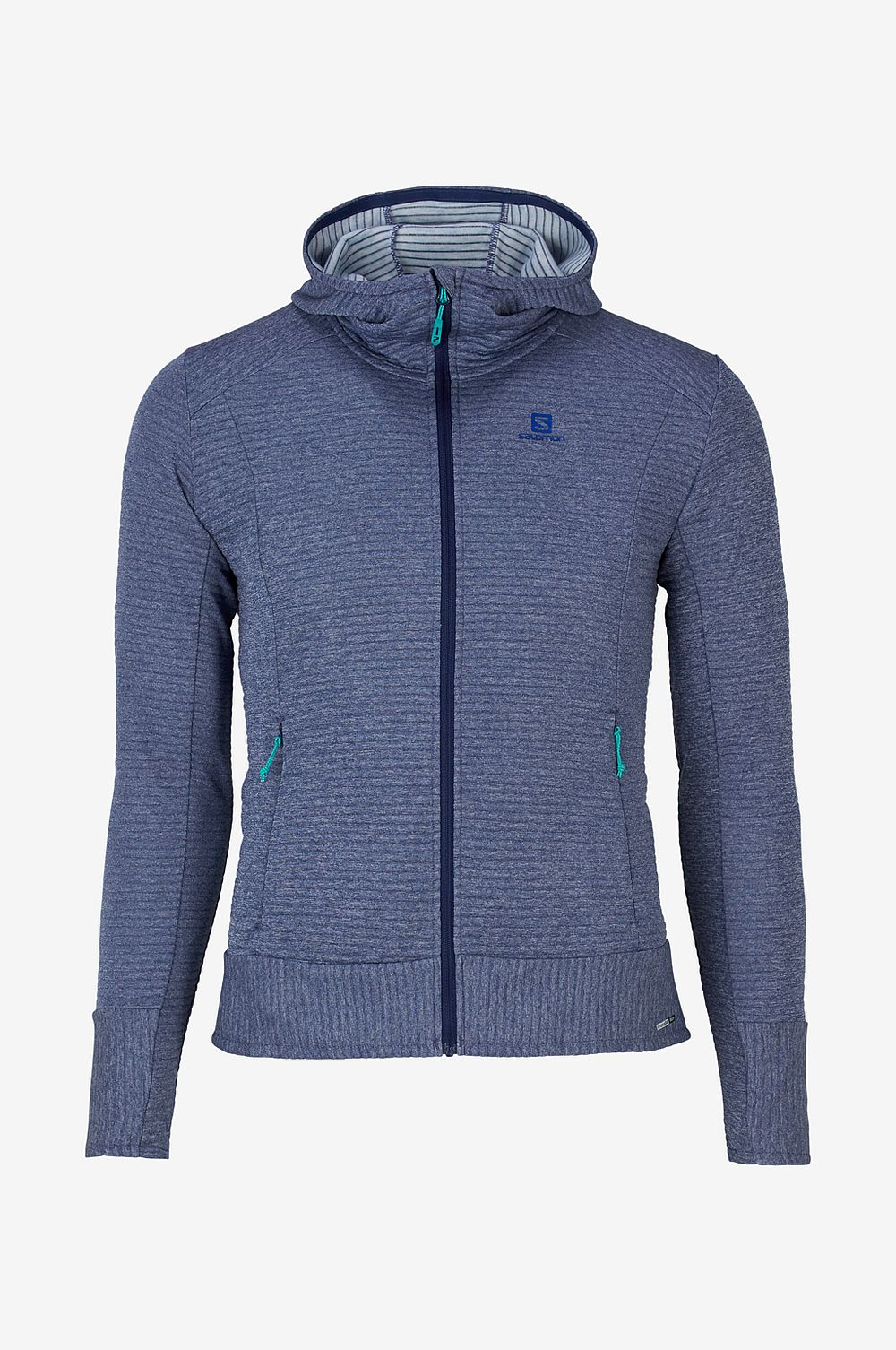 Salomon Funktionströja Right Nice Mid Hoodie W - Blå - Dam