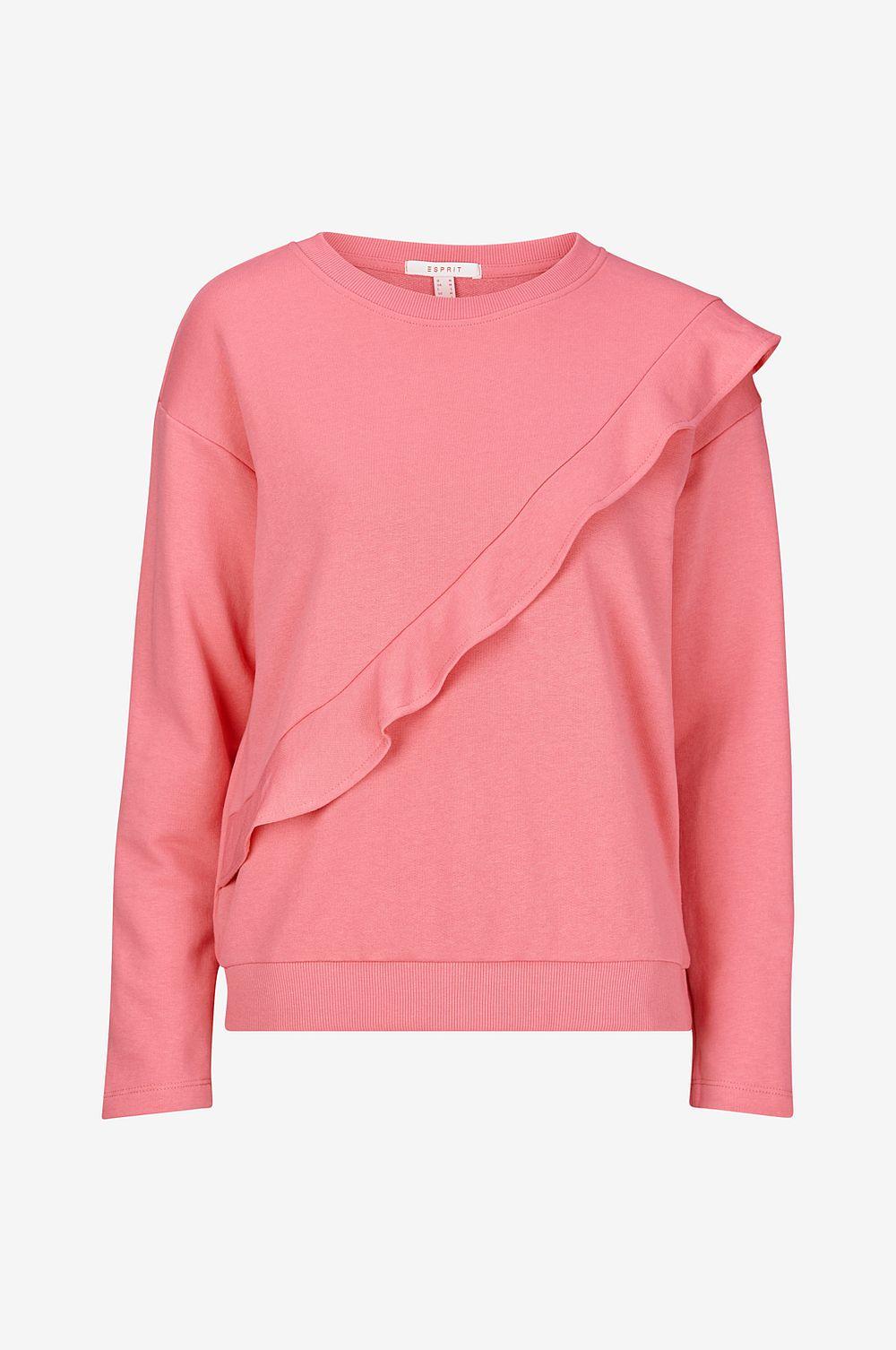 5fc866b8d Esprit Sweatshirt med volang - rosa - Dam llrszl292-Damkläder - www ...