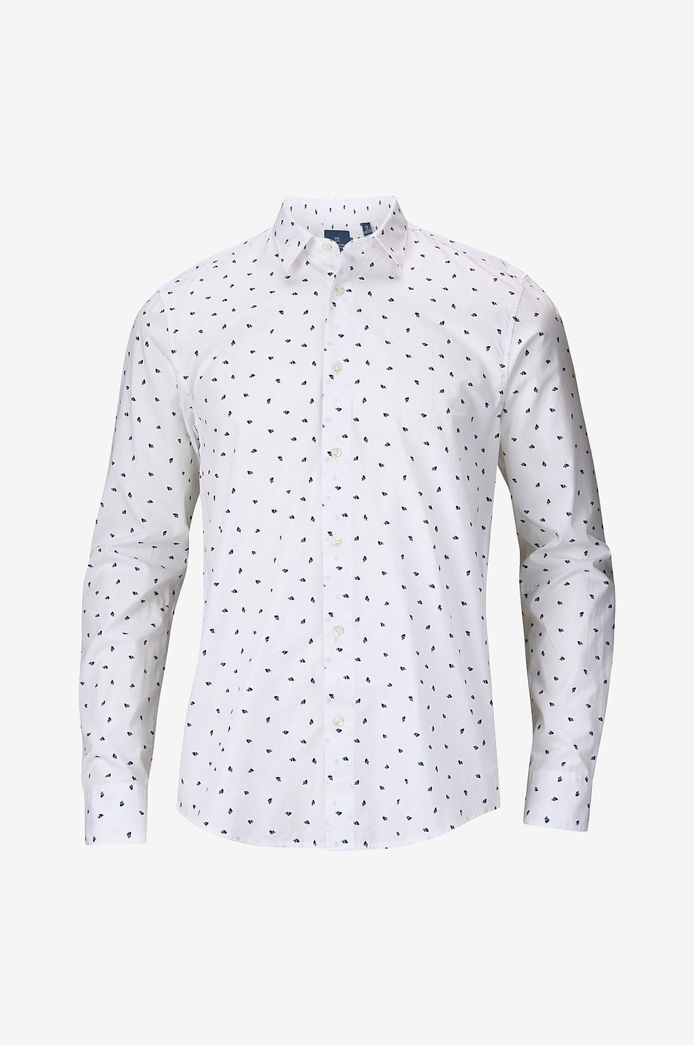 Scotch & Soda Skjorta Mini-Printed Shirt, slim fit - Vit - Herr