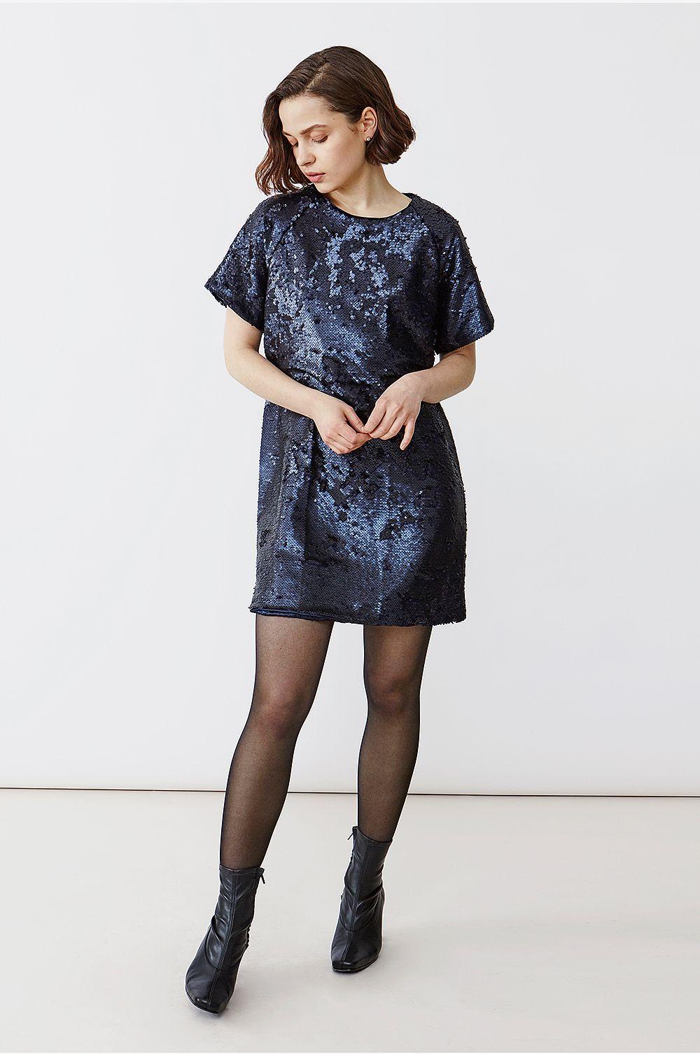 Twist & Tango Pailletkjole Kim Dress - Blå - Festkjoler