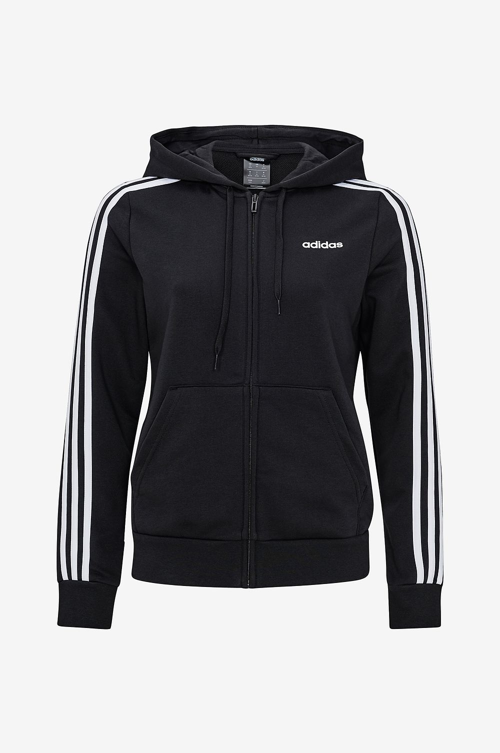 Adidas Sport Performance Huvtröja Essentials 3-stripes Full Zip Hoodie - Svart - Dam