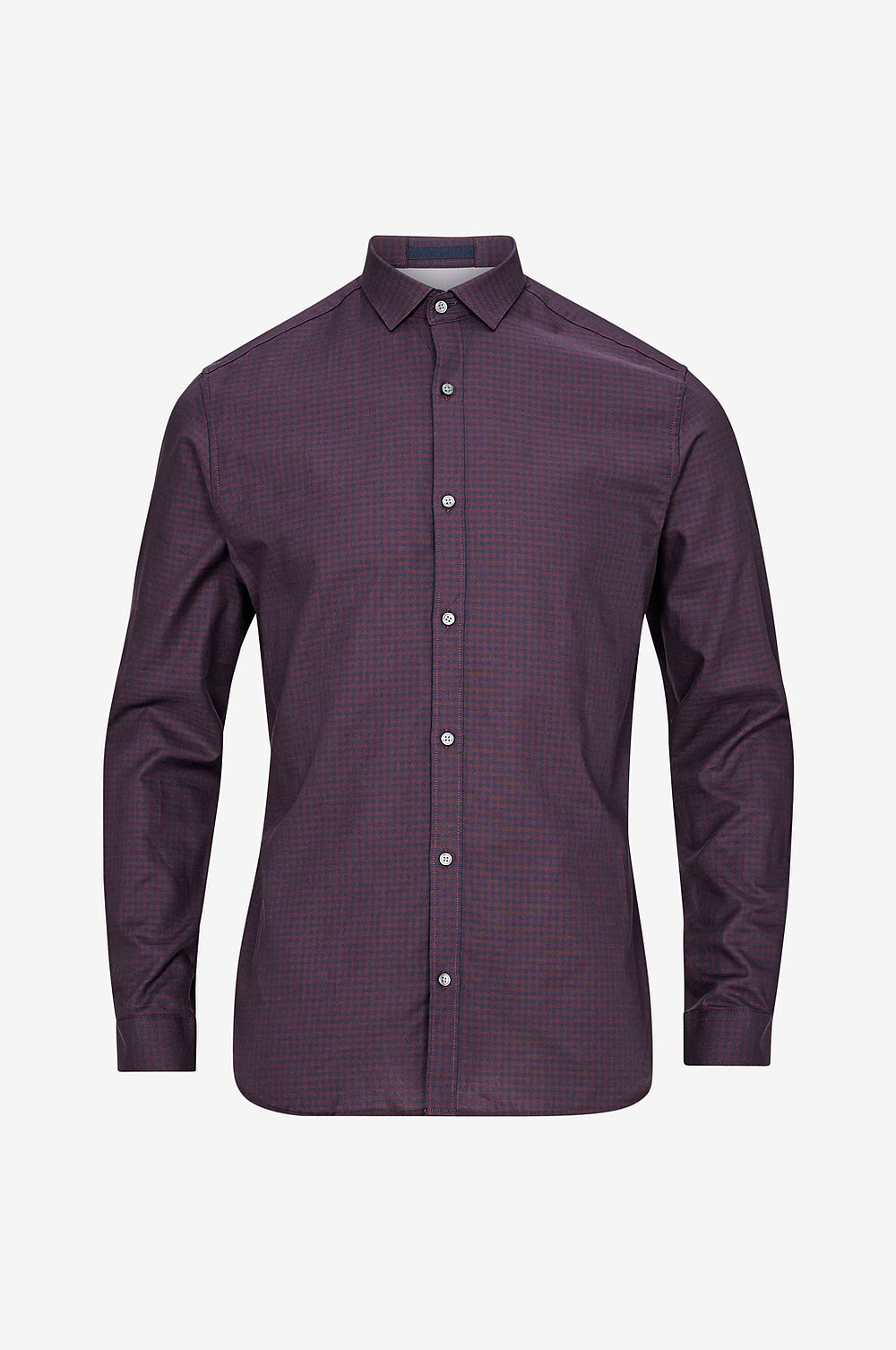Jack & Jones Skjorta jprHarrison Shirt L S Plain, slim fit - lila - Herr