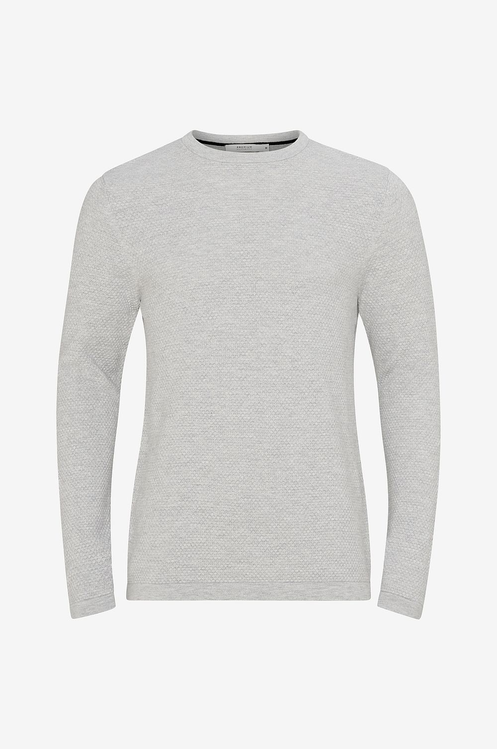 Jack & Jones Tröja jprChamp Knit Crew Neck - Grå - Herr