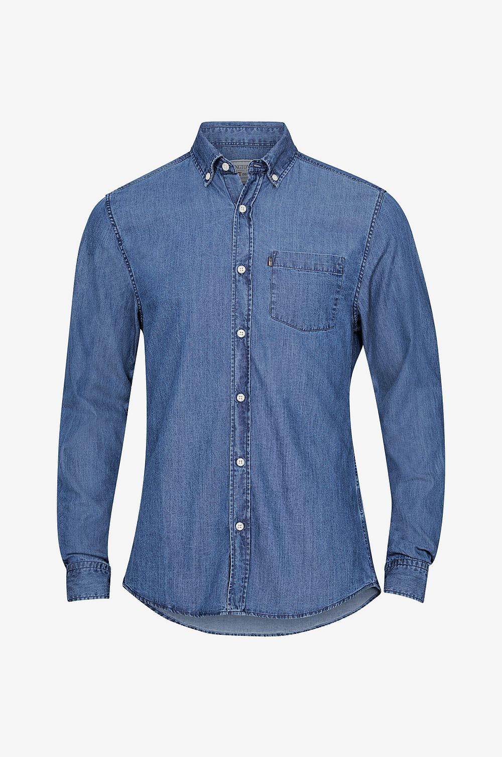 Lexington Skjorta Clive Denim Shirt - Blå - Herr