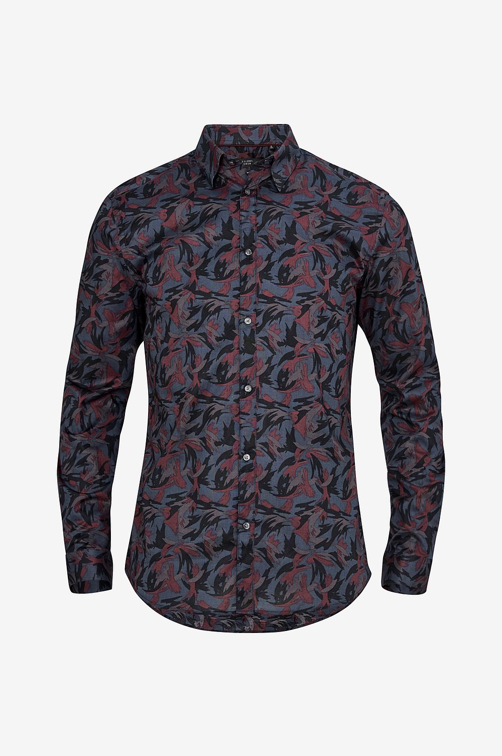 Jack & Jones Skjorta jprHeston Print Shirt Slim - Grå - Herr