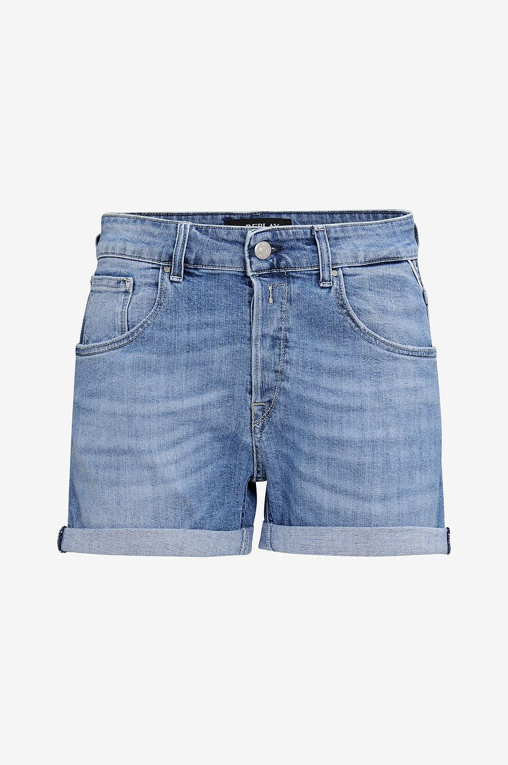 Replay Jeansshorts Slightly Baggy Shorts - Blå - Dam