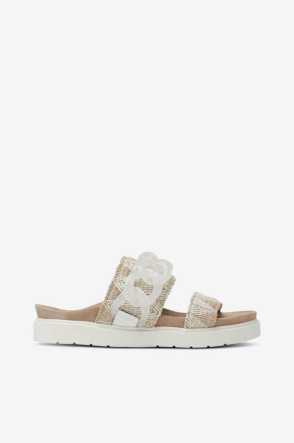 fb21480b2a9 INUIKII Sandal Sandal Sandal Slipper Chain Raffia Vit Dam 326ab9 ...