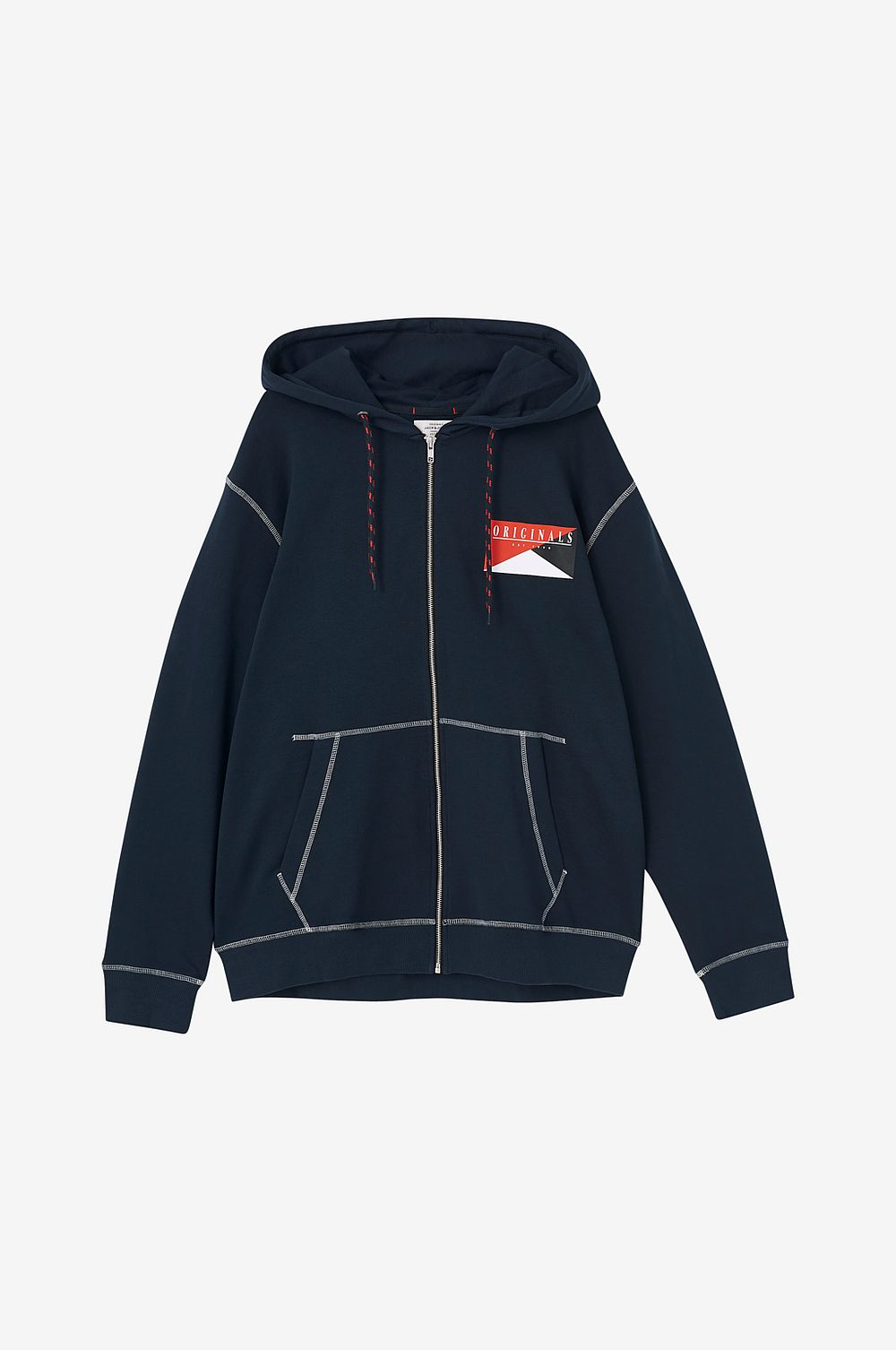Jack & Jones Huvtröja jorBrook Sweat Zip Hood PS - Vit - Herr