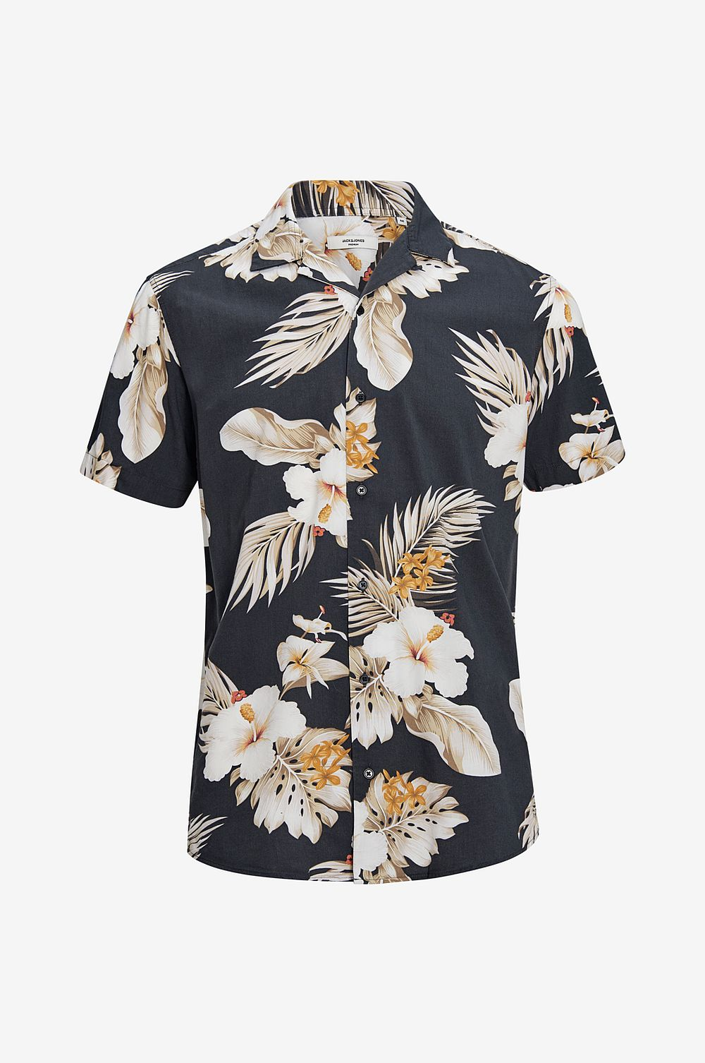 Jack & Jones Skjorta jprHawaii Resort Shirt S S - Svart - Herr