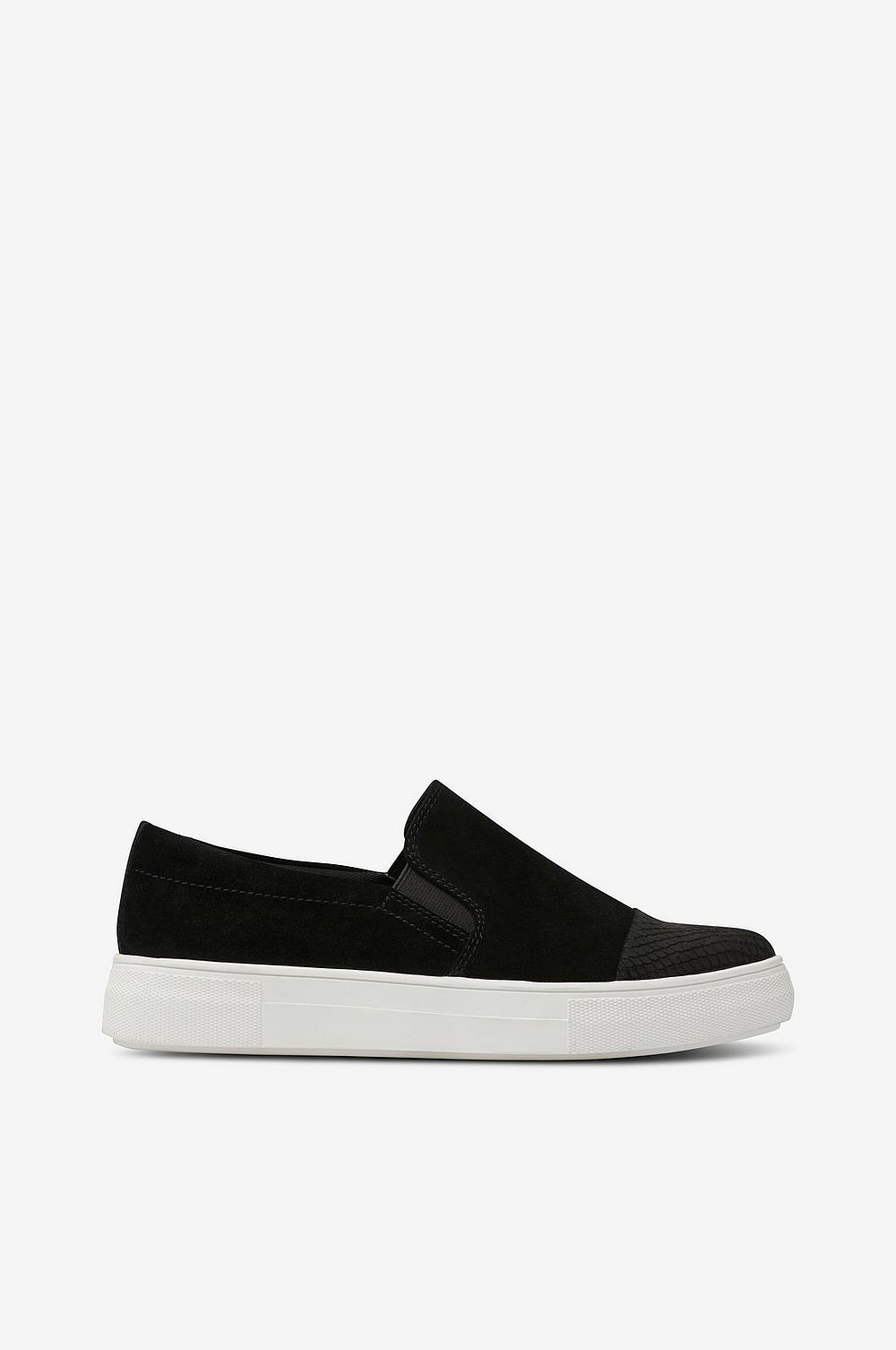 skor skor Slip On Shiny Toe Svart Dam