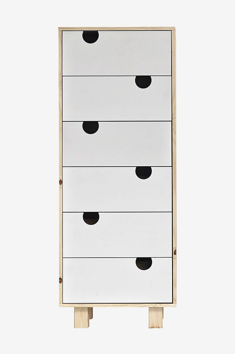 Karup Design Lipasto House, 6 laatikkoa Luonnonväri