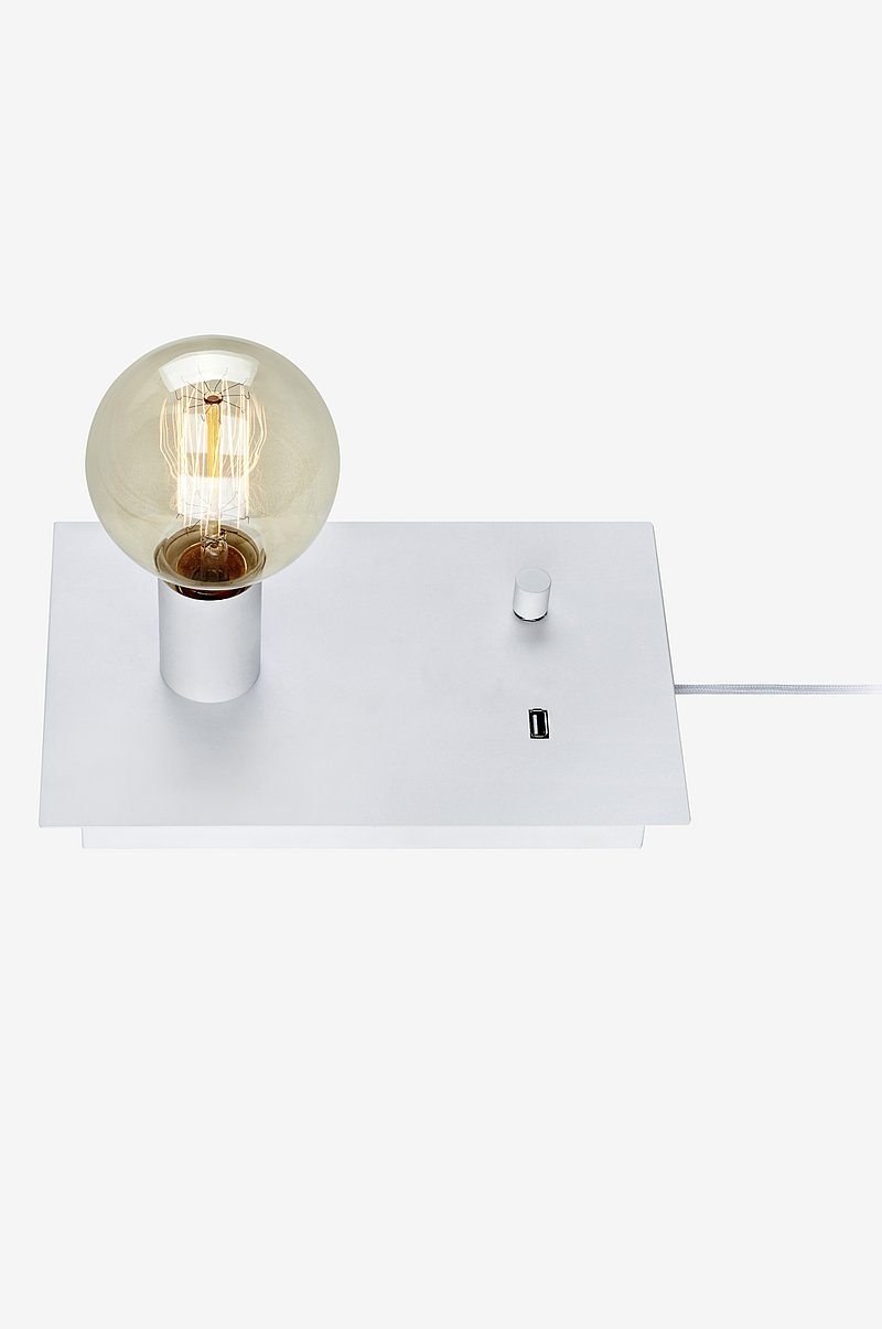 LOAD Bordlampe USB Hvit