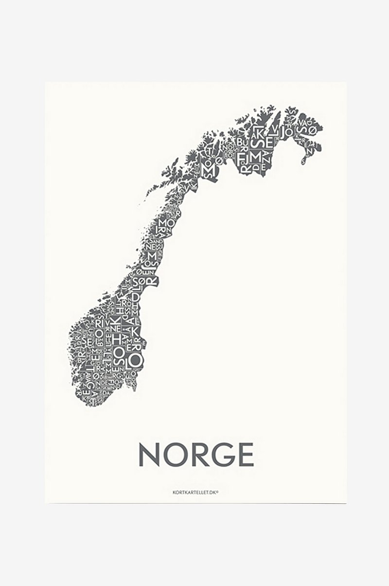 Poster Norge 50x70 cm