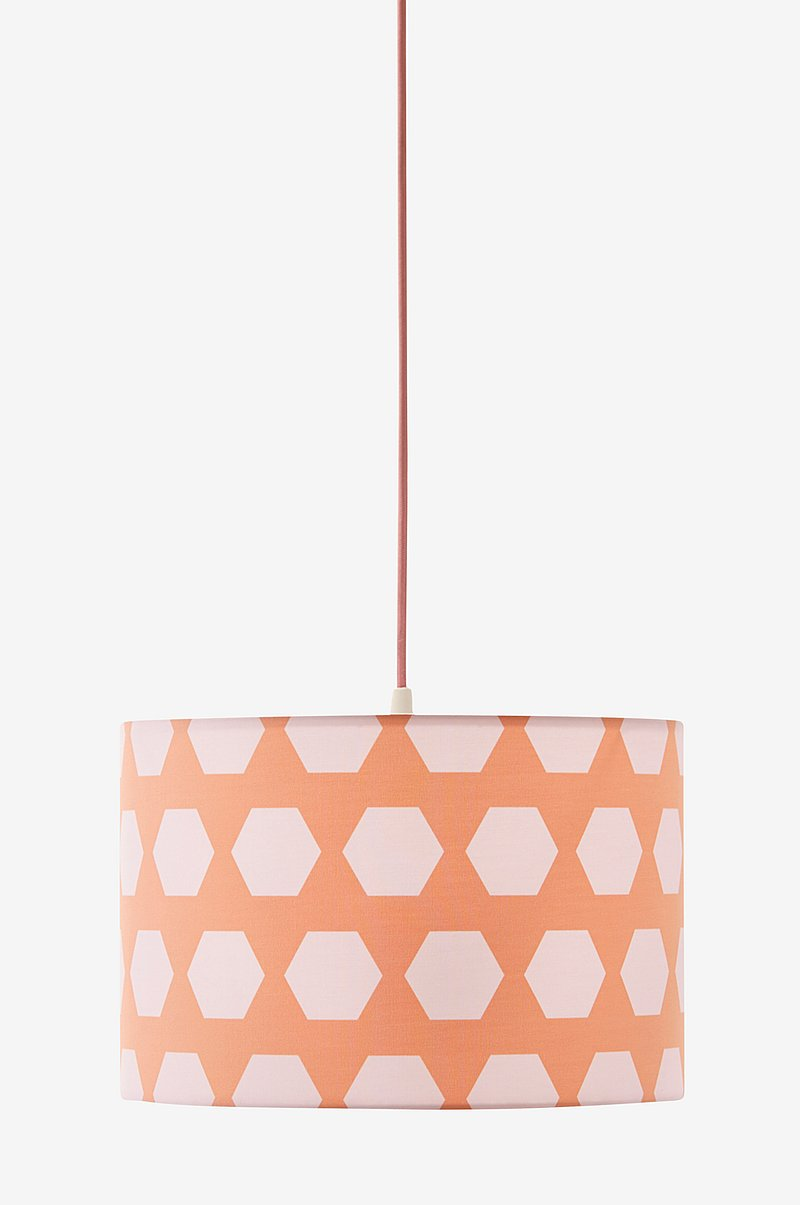 Loftlampe Hexagon Abrikos
