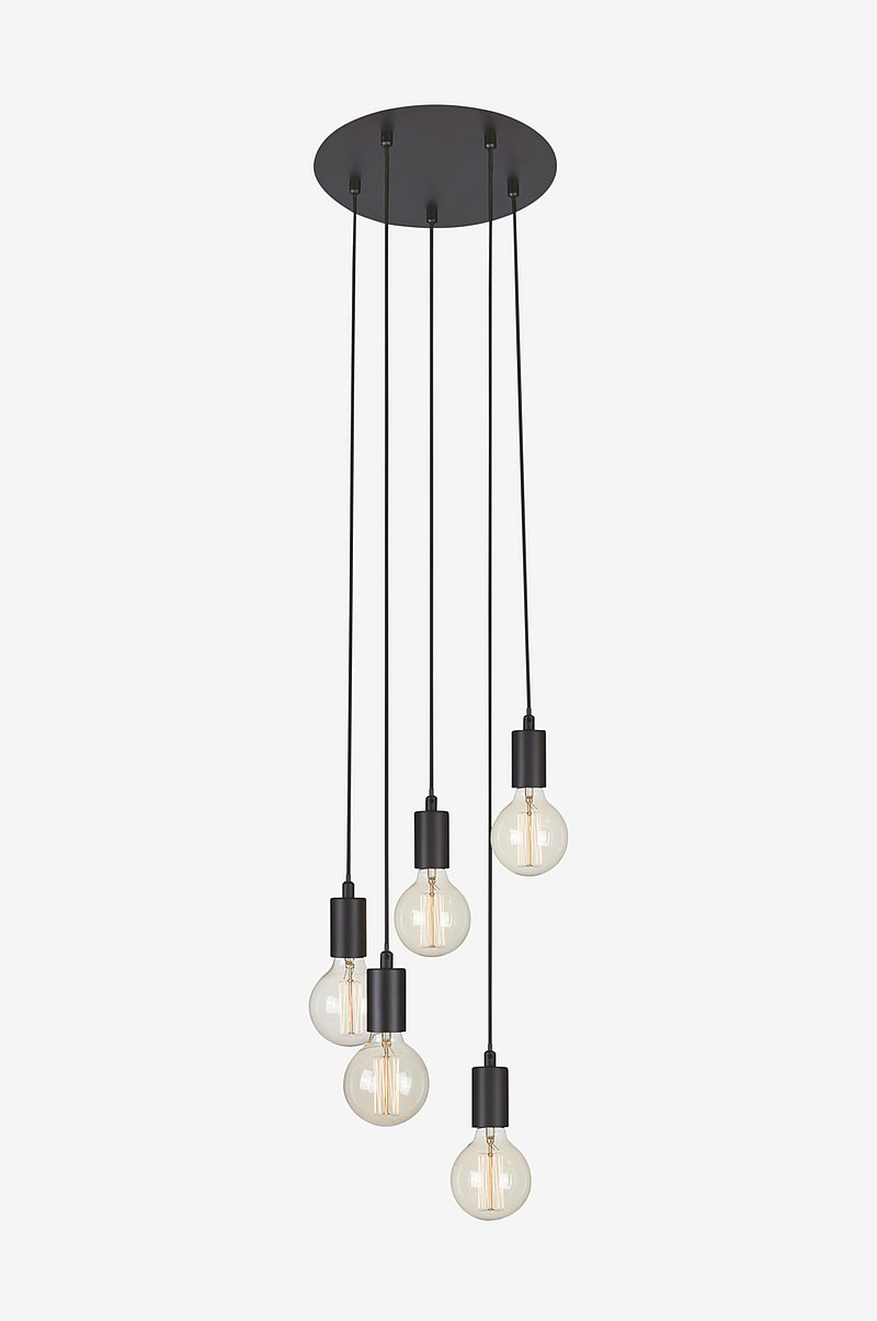 Loftlampe Sky 5L rund sort