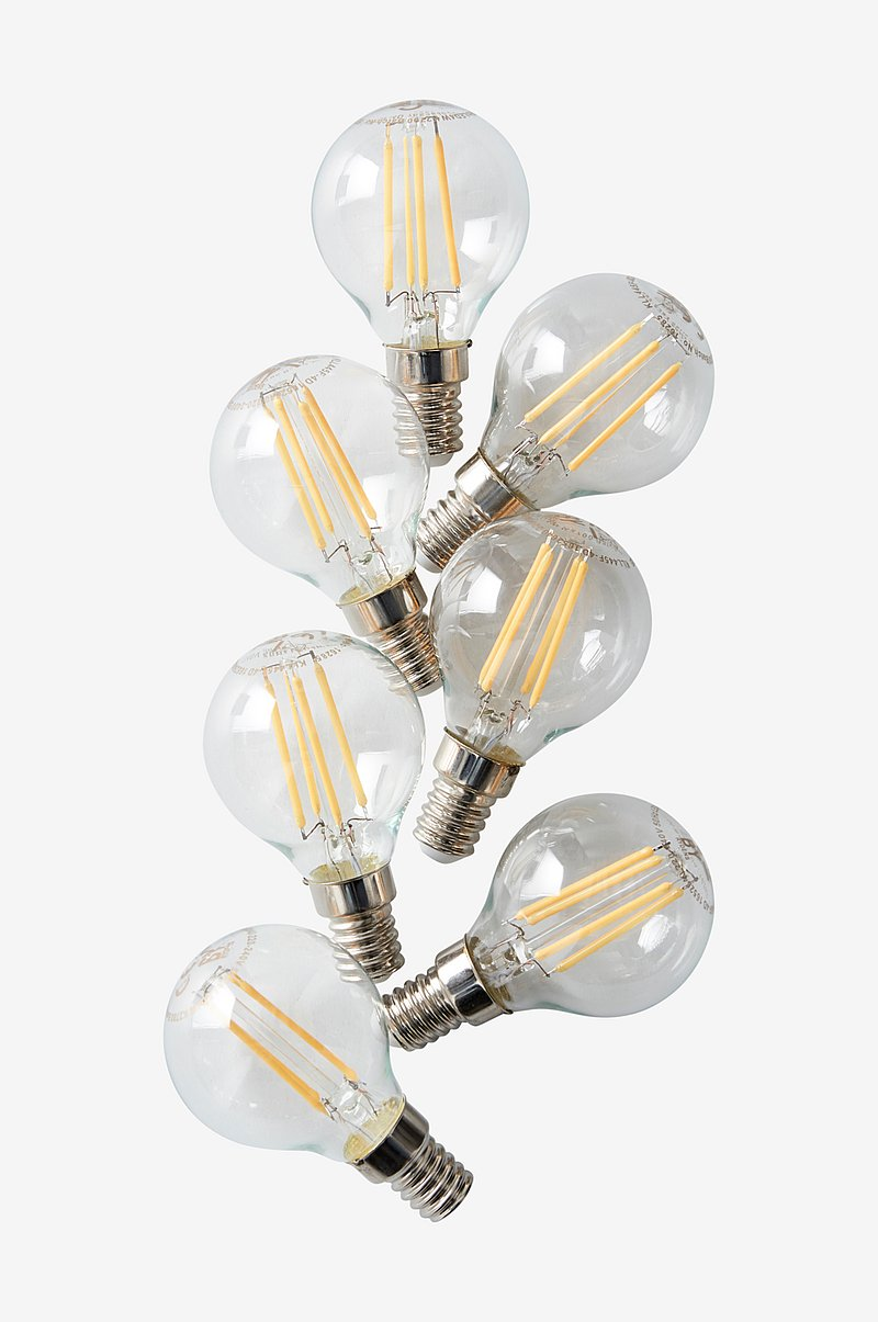 7-pack LED dimbar klot E14 4W, Ø45 mm