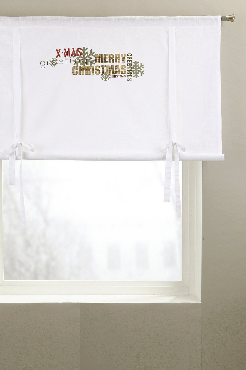 CHRISTMAS GREETINGS roll up-gardin