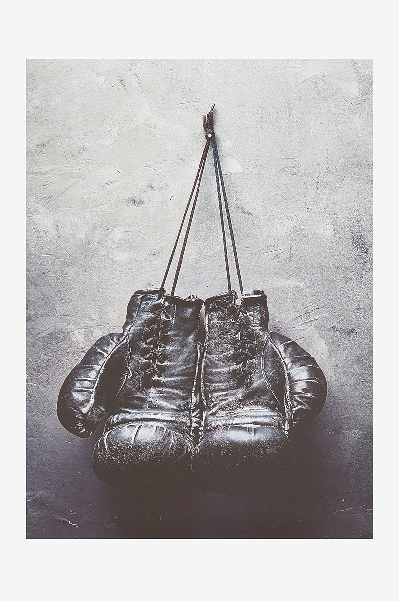 BOXING GLOVES poster 50x70 cm