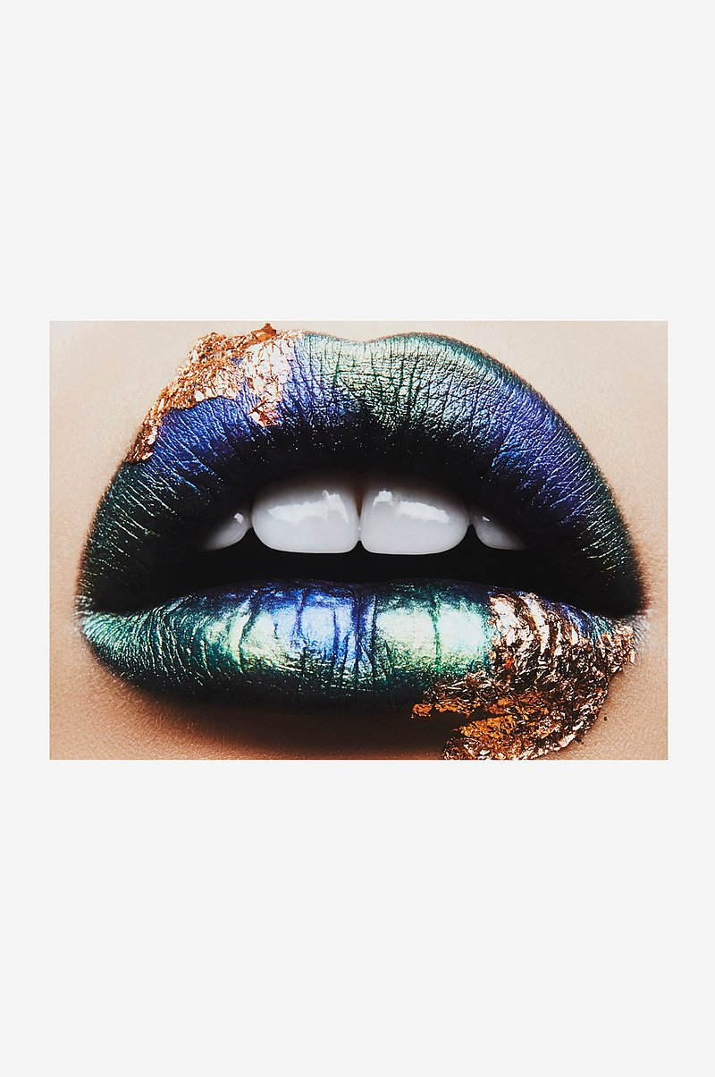GOLDY LIPS poster 70x50 cm