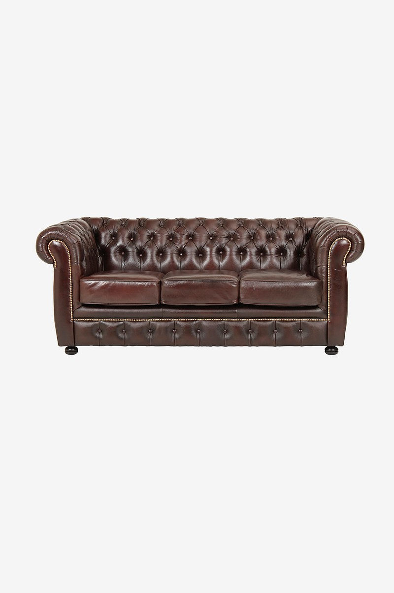 Soffa Chesterfield 3-sits London Liverpool