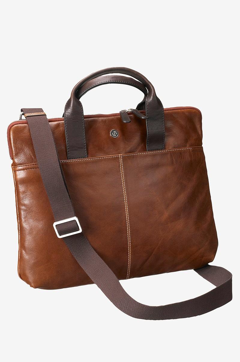 Exklusiva Väskor Herr : Saddler datorv?ska laugesen av skinn brun herr ellos
