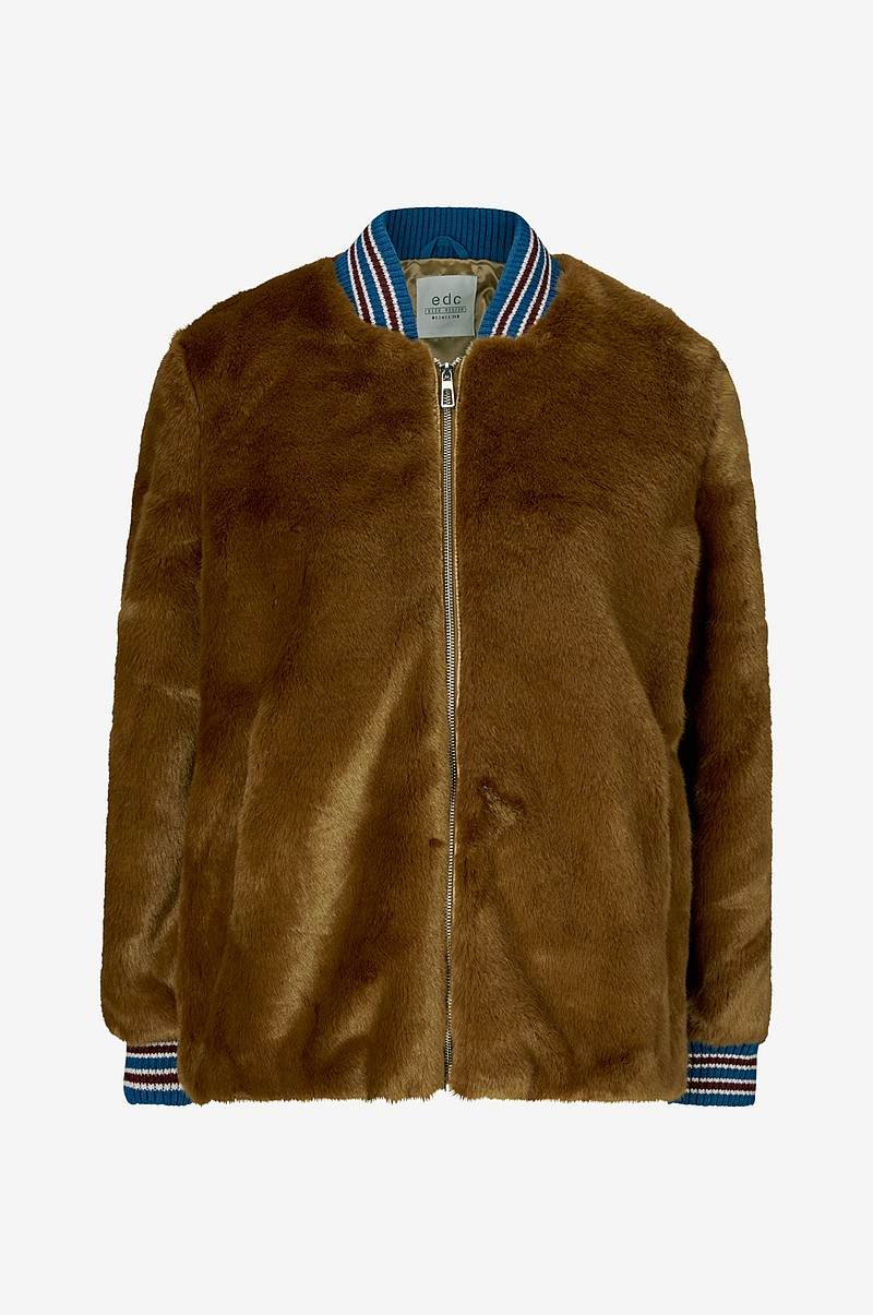 Jacka Fake Fur Bomber Jacket