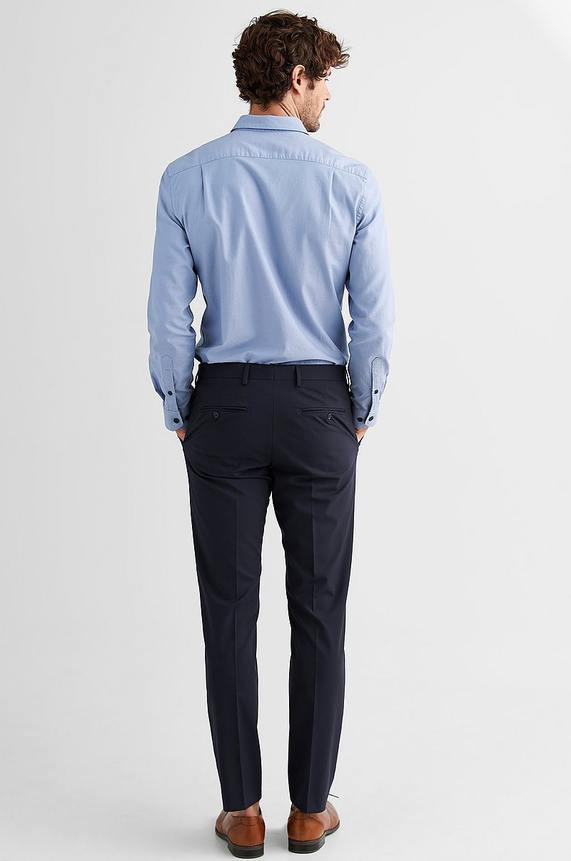 shdNewone-Mylologan1 Navy -housut, slim fit