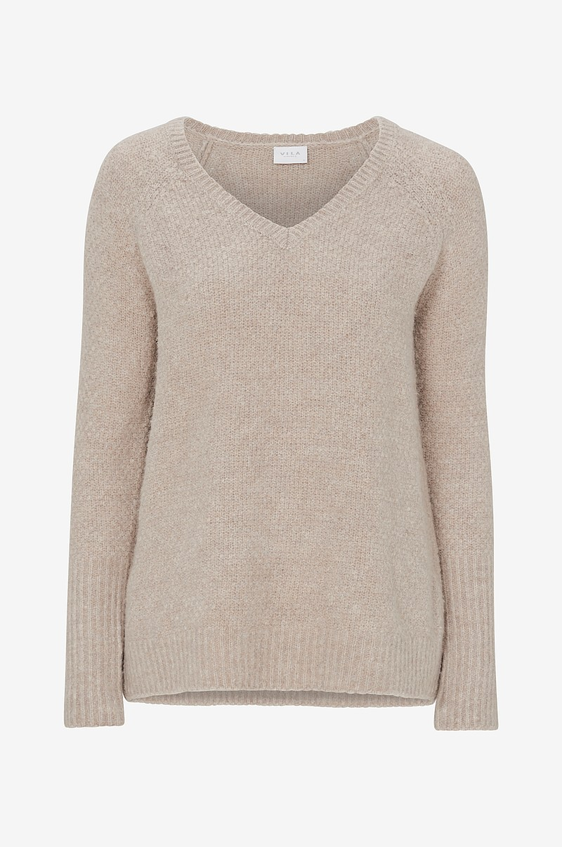 Trøje viPlace V-Neck Knit Top