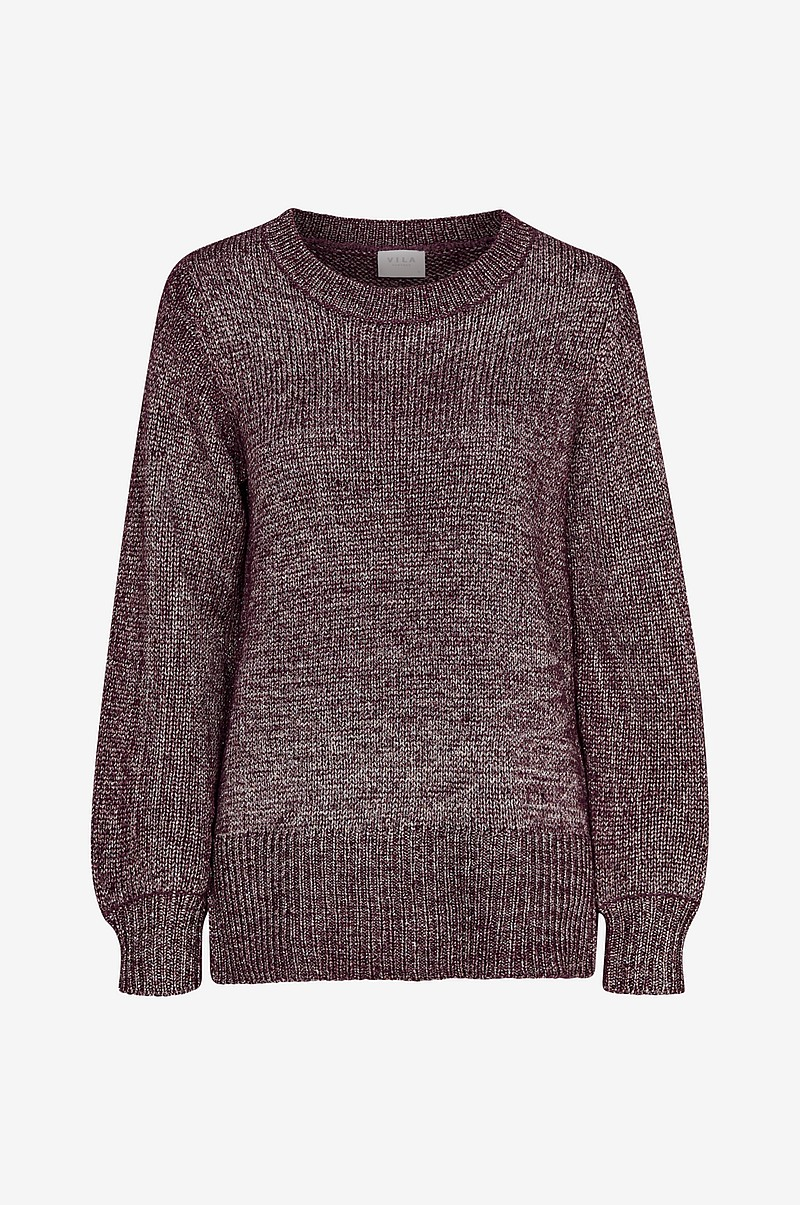 Trøje viCleared Knit Metallic Top