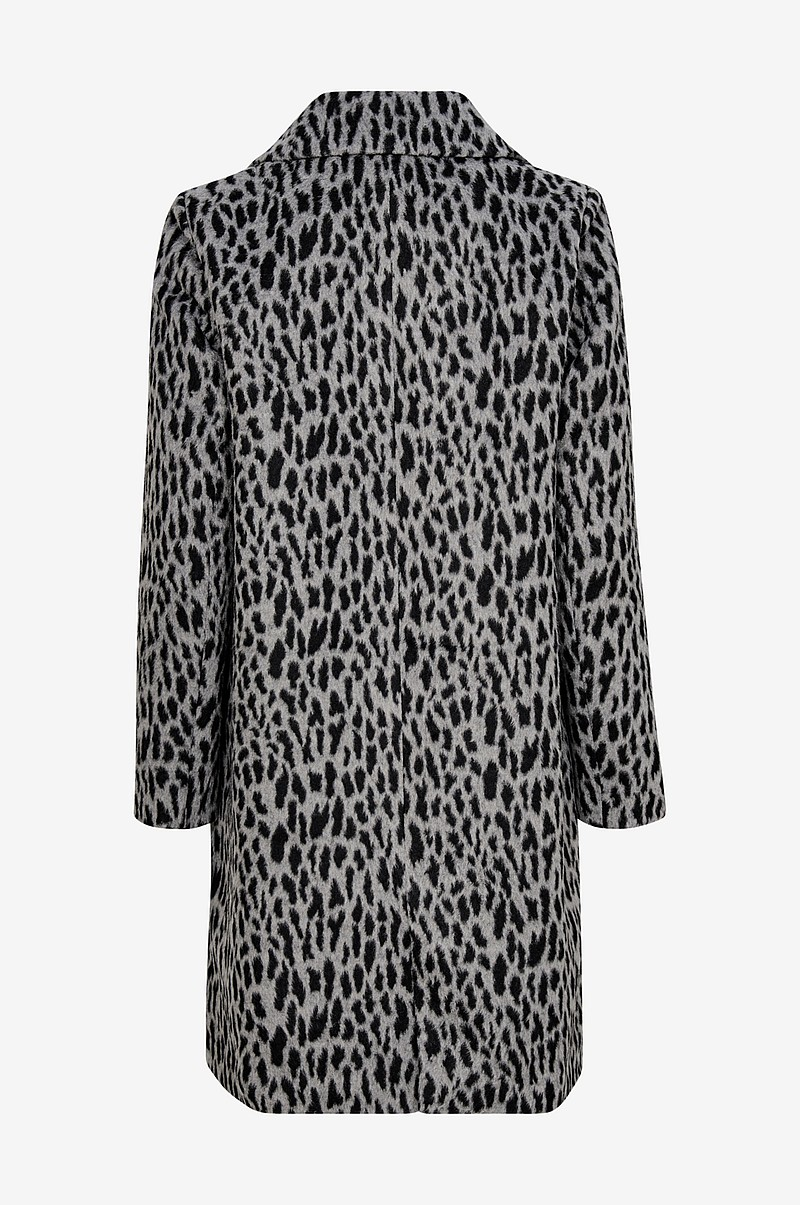 Animal Printed Coat takki