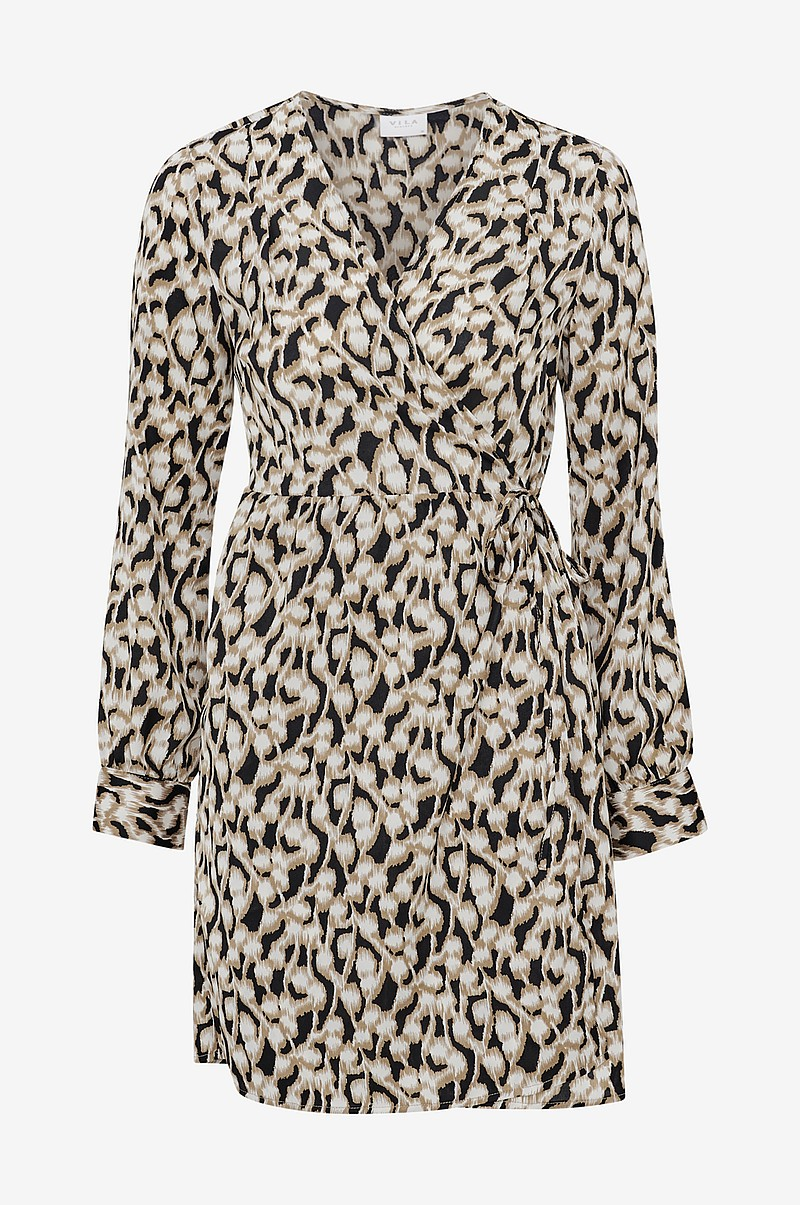 Omlottklänning viSalpa L/S Wrap Dress