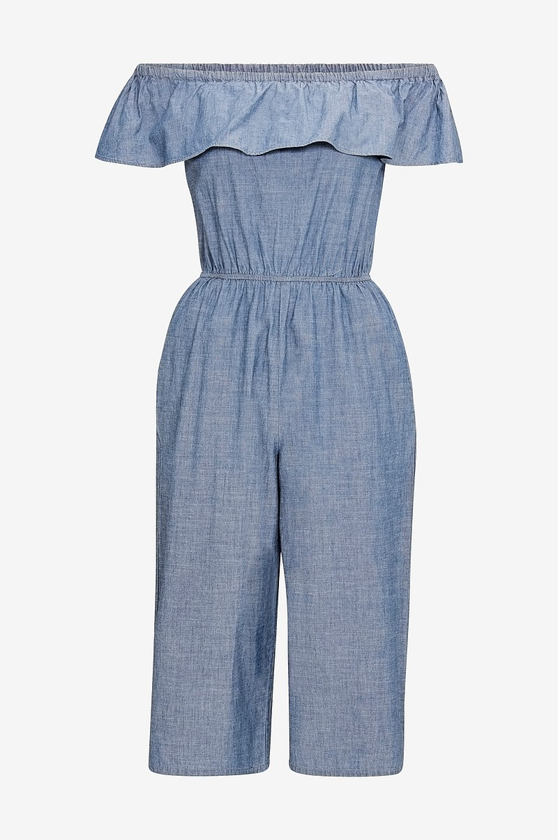 Jumpsuit vmEmilia Ruffle Drop Chambray Jumps
