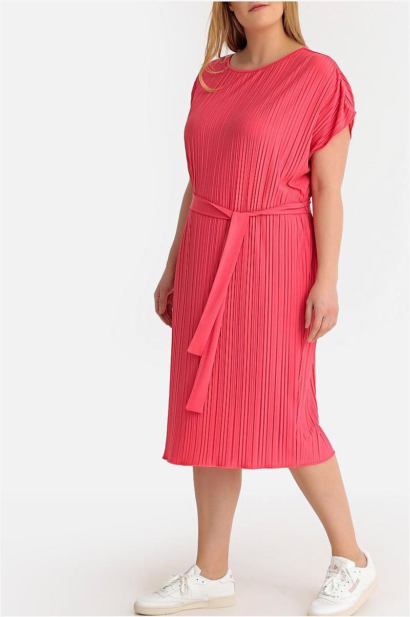 rak klänning med kort ärm