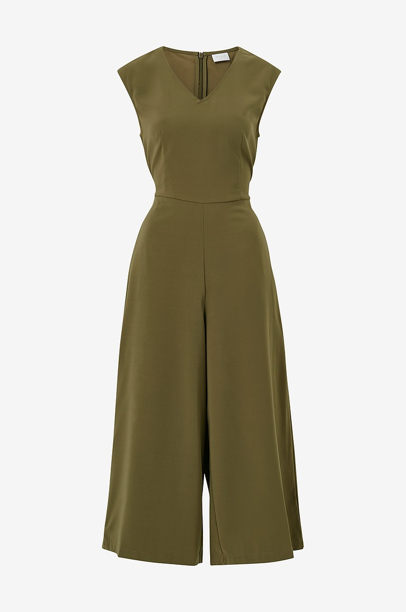 Jumpsuit viMelis Solid V-neck Cropped