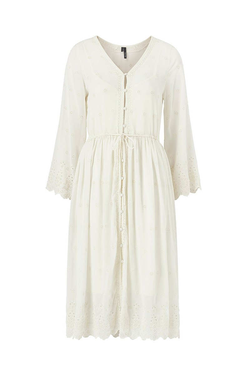 Klänning vmJasmine 7/8 Emb Calf Shirt Dress