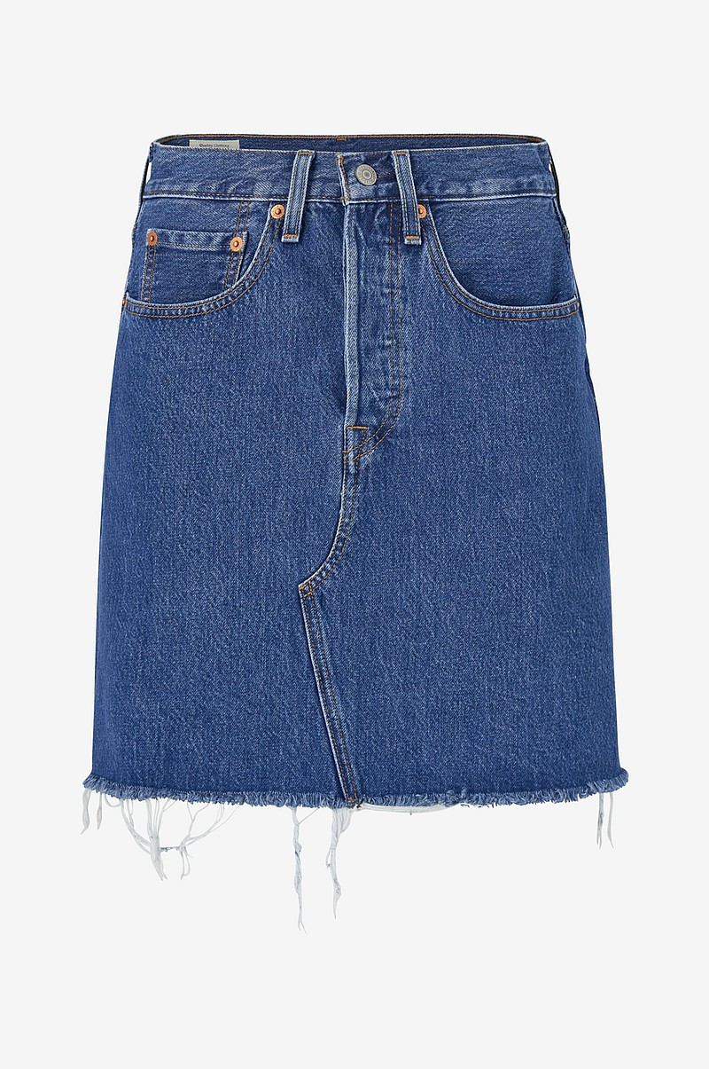 Denimnederdel High-Rise Deconstructed Skirt
