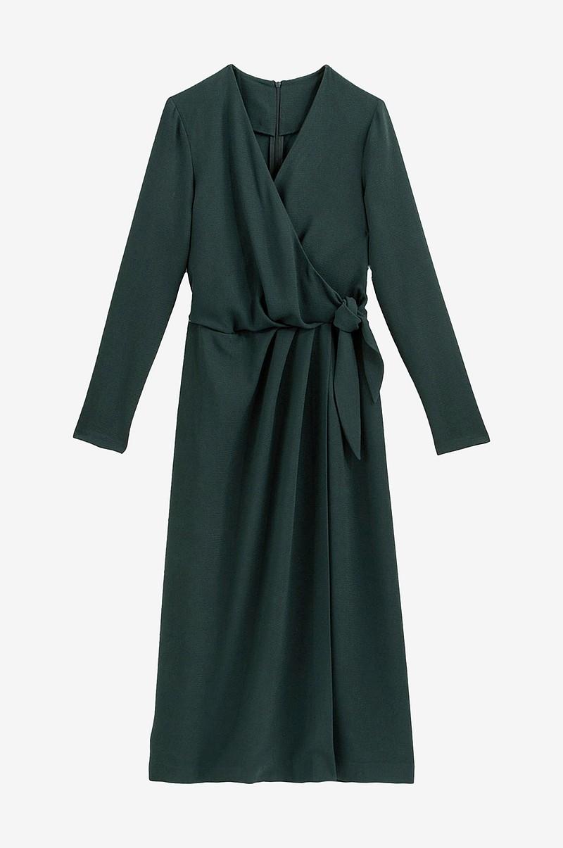 omlottklänning lång ärm